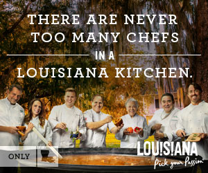 There are never too many chefs in a Louisiana kitchen.