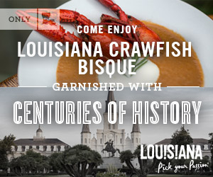 Come enjoy Louisiana crawfish bisque garnished with centuries of history