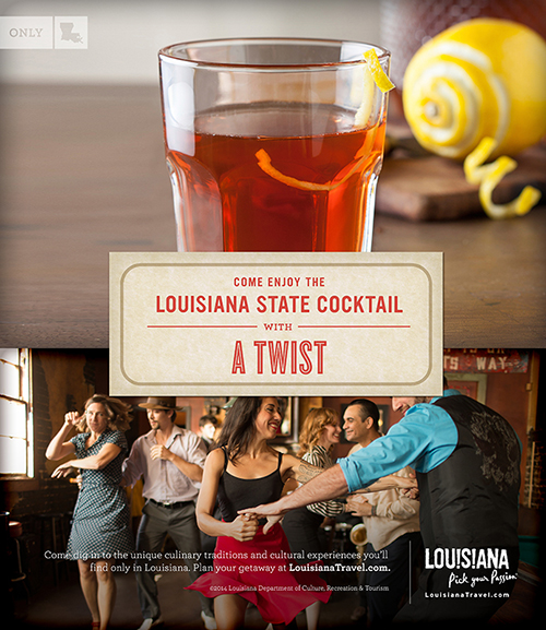 Come enjoy the Louisiana state cocktail with a twist