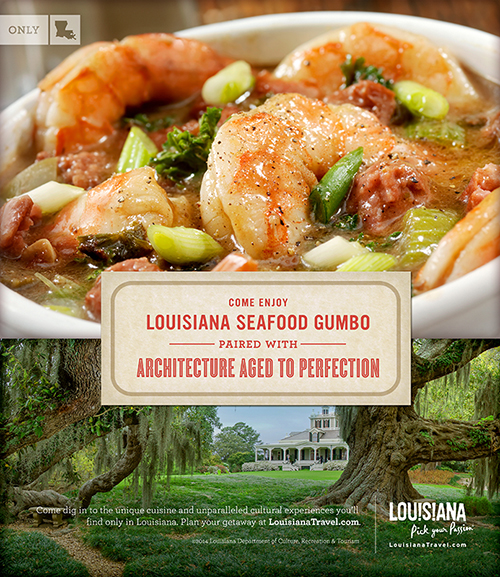 Come enjoy Louisiana seafood gumbo paired with architecture aged to perfection
