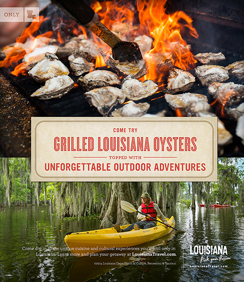 Come try grilled Louisiana oysters topped with unforgettable outdoor adventures